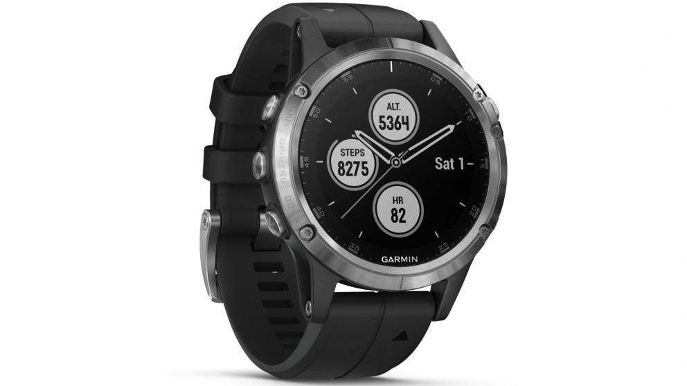 Buy Garmin Fenix 5 Plus Gps Smart Watch Silver Case With Black