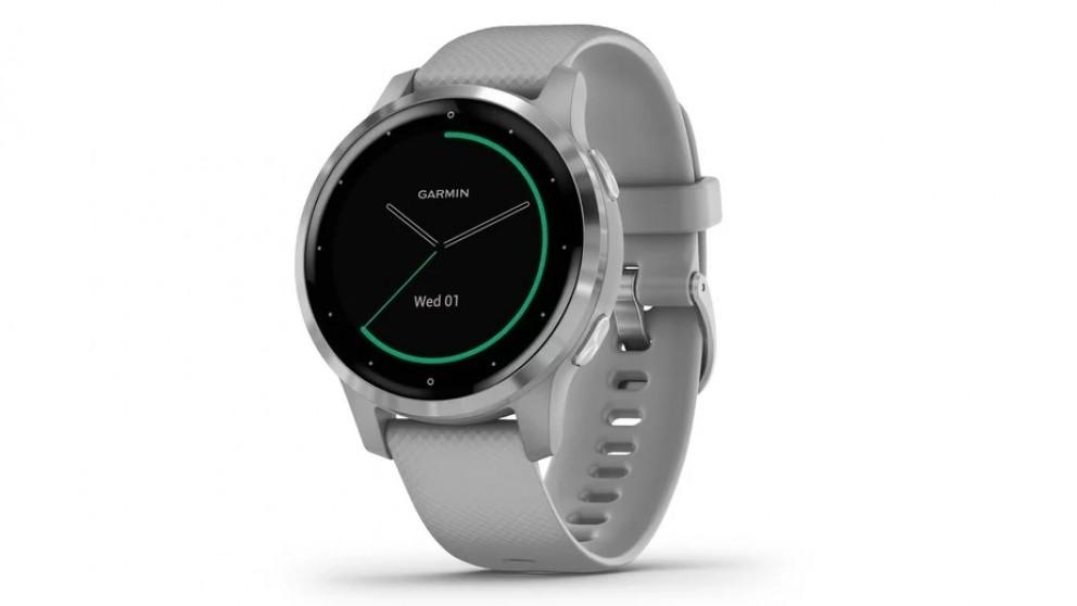 Garmin Vivoactive 4S Smart Watch - Silver with Powder Grey Band