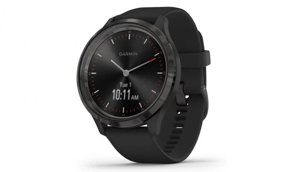 Garmin Vivomove 3 Smart Watch - Slate with Black Silicone Band