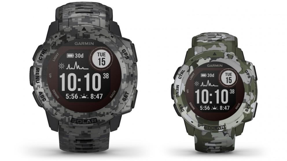 Garmin Instinct Solar Camo Edition GPS Smart Watch
