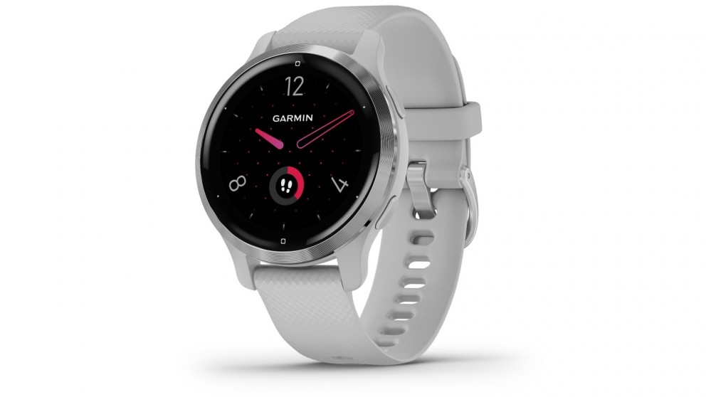 Garmin Venu 2S GPS Smart Watch - Silver Bezel with Mist Gray Case and Silicone Band