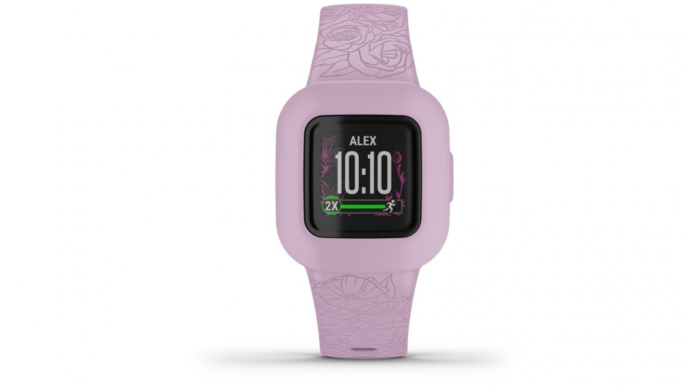Garmin Vivofit Jr 3 Kids Fitness Tracker - Lilac Floral
