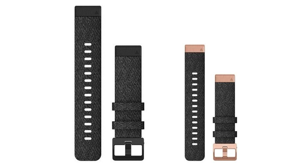 Garmin QuickFit 20 Heathered Black Nylon Watch Band