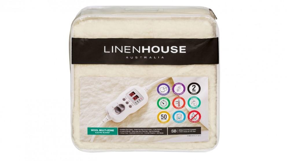 Linen House Wool Multi Zone Electric Blanket