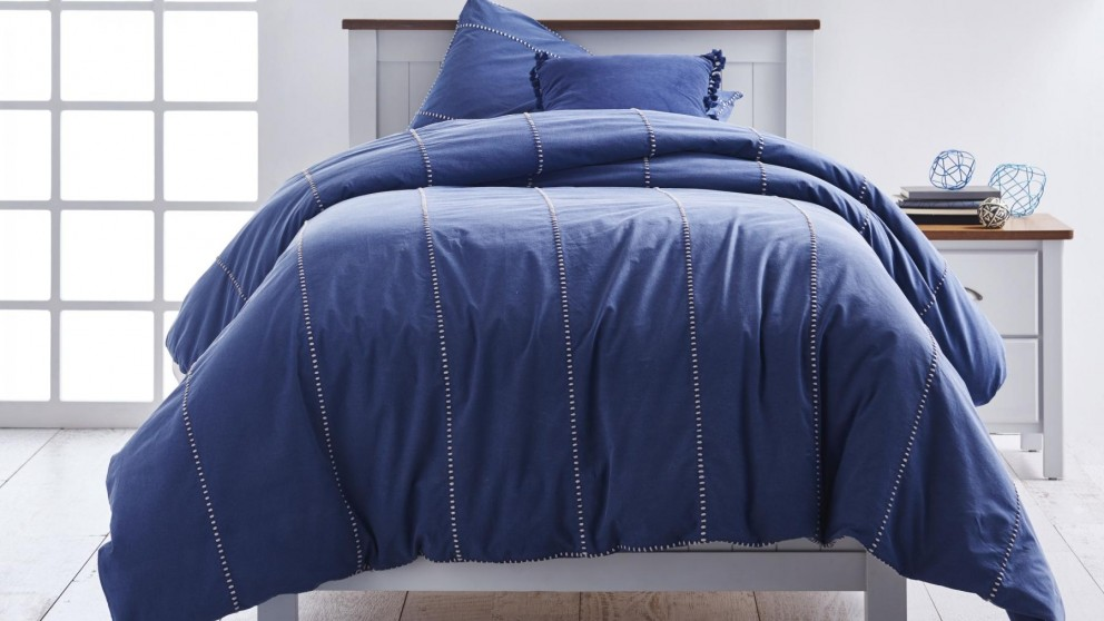 Jerome Navy Single Quilt Cover Set
