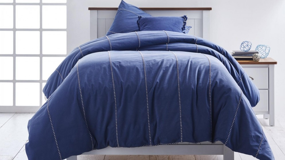 Jerome Navy Double Quilt Cover Set