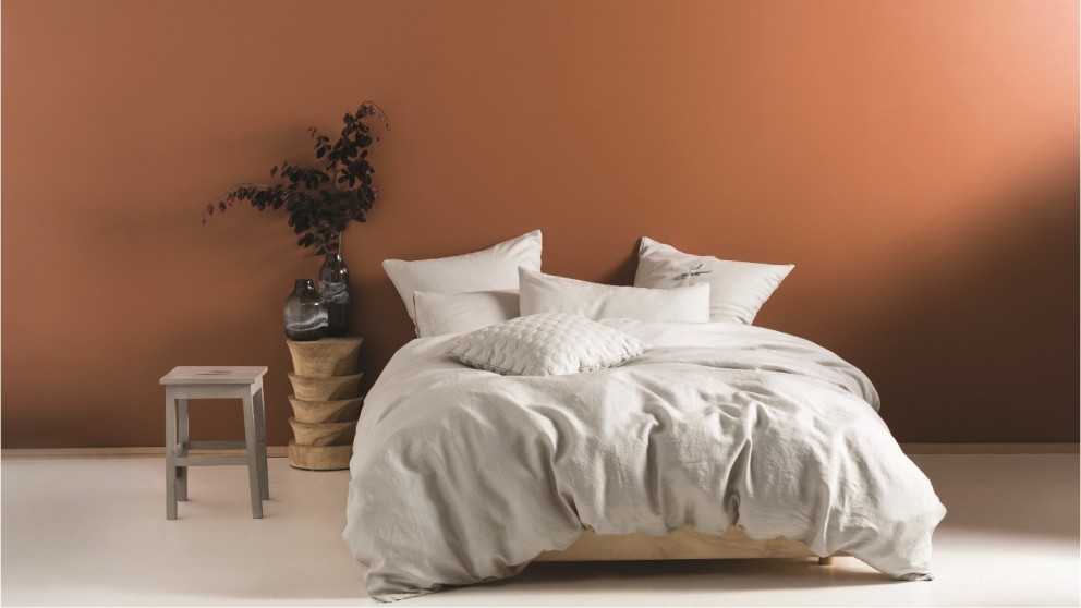 Nimes Pale Grey Quilt Cover Set - Queen
