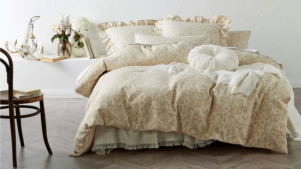 Damson Taupe Quilt Cover Set