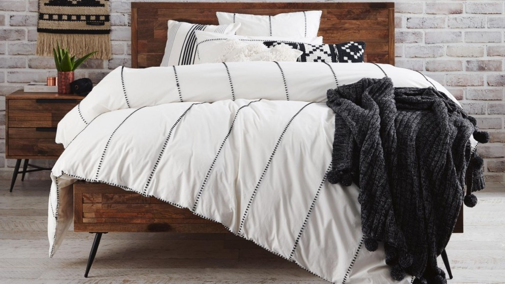 Jerome White Queen Quilt Cover Set