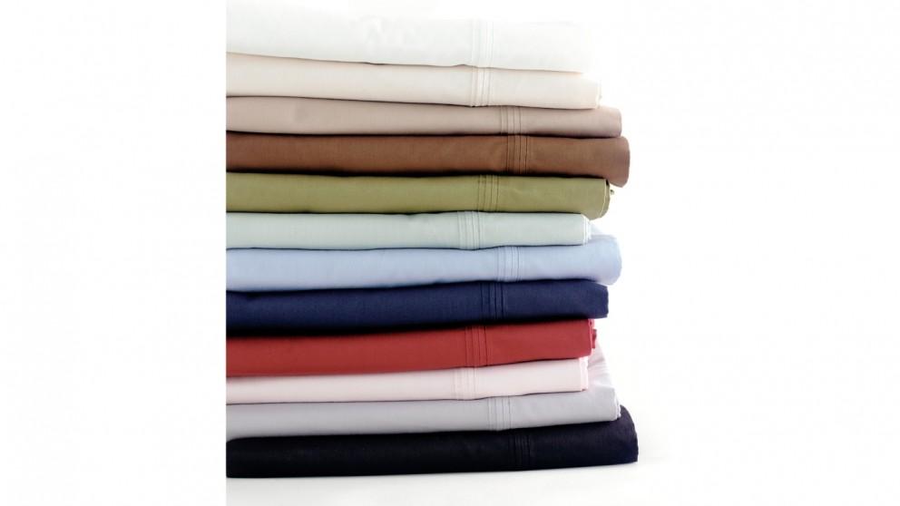 Linen House 300TC Queen Flat Sheet - Blush