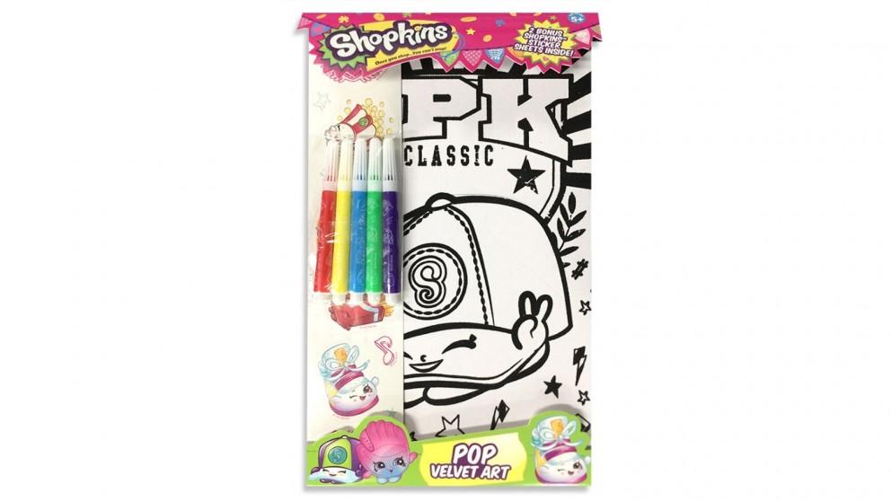 Shopkins Pop Velvet Art Colouring with Mark