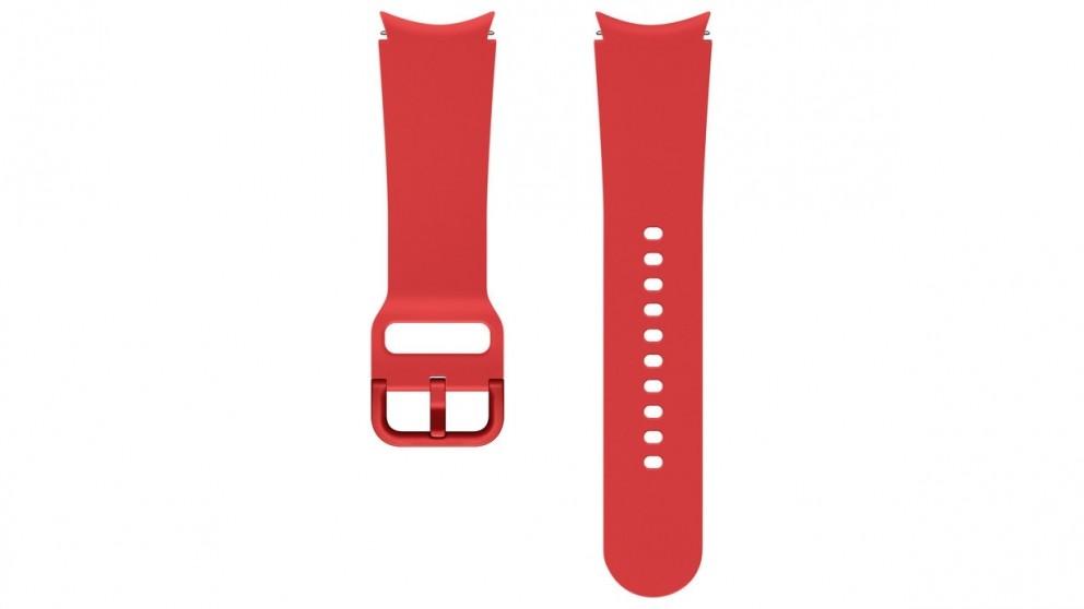 Samsung Galaxy Watch4 20mm Small/Medium Sport Band - Red