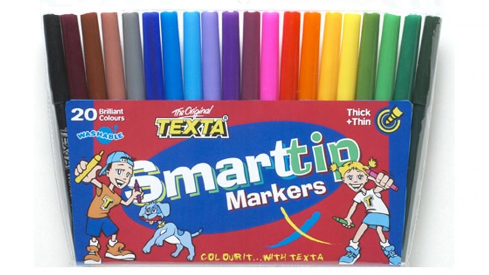 Texta 20-Piece Smart Tip Marker Assorted Colour