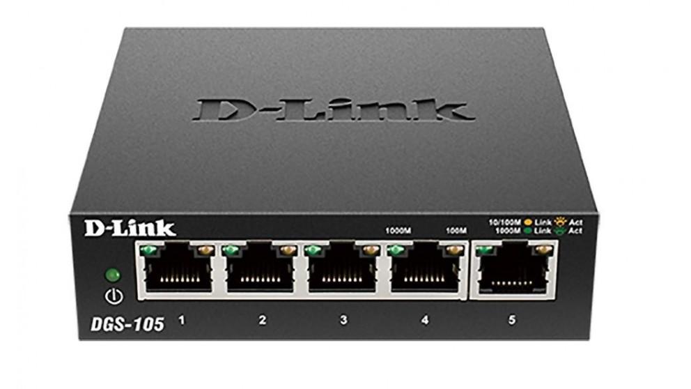D-Link 5 Port Gigabit Desktop Switch Metal Housing