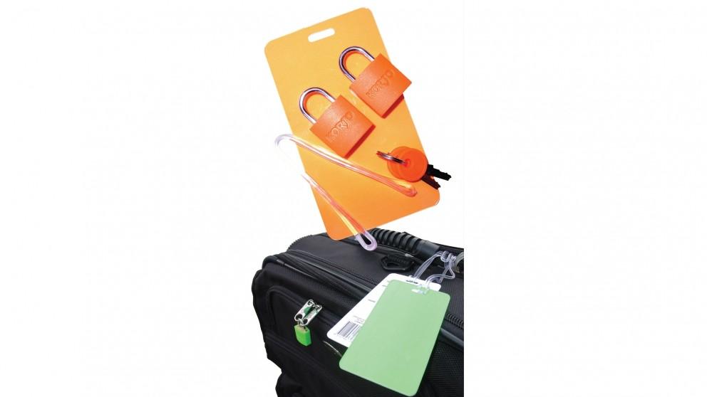 Korjo Luggage Tag and Lock Kit