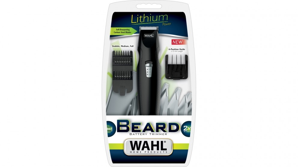 wahl beard lithium battery operated beard trimmer hair clippers trimmers mens shaving. Black Bedroom Furniture Sets. Home Design Ideas