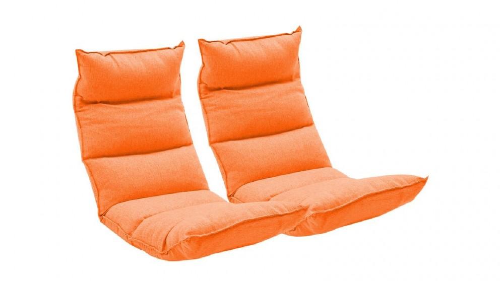 Soga 2X Floor Recliner Lazy Chair - Orange