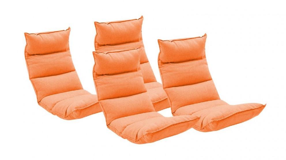 Soga 4X Floor Recliner Lazy Chair - Orange
