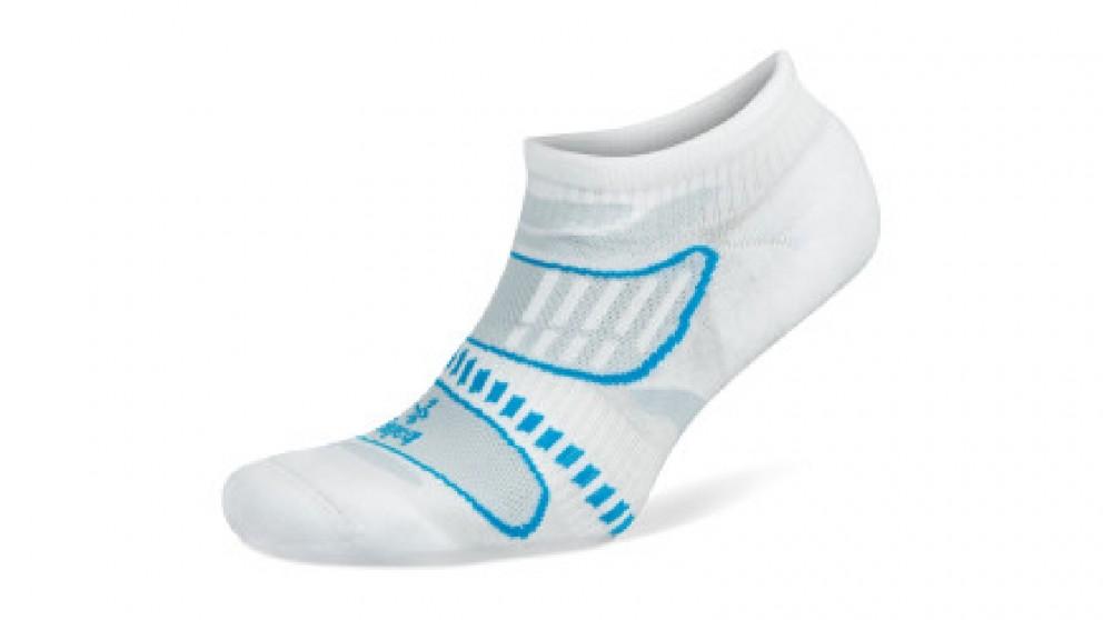 Balega Ultralight No Show White/Blue Socks - Extra Large