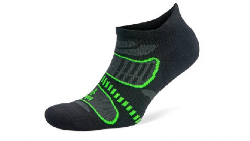 Balega Ultralight No Show Black/Lime Socks - Large