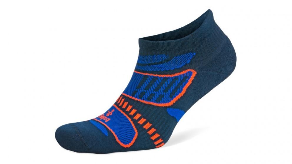 Balega Ultralight No Show Ink/Cobalt Socks - Extra Large