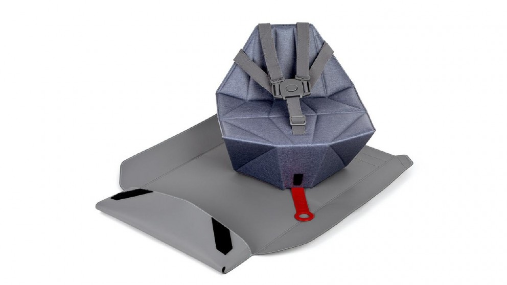 Roger Armstrong Pop-Up Booster Seat with Seat Cover/Carry Bag - Pebble Blue