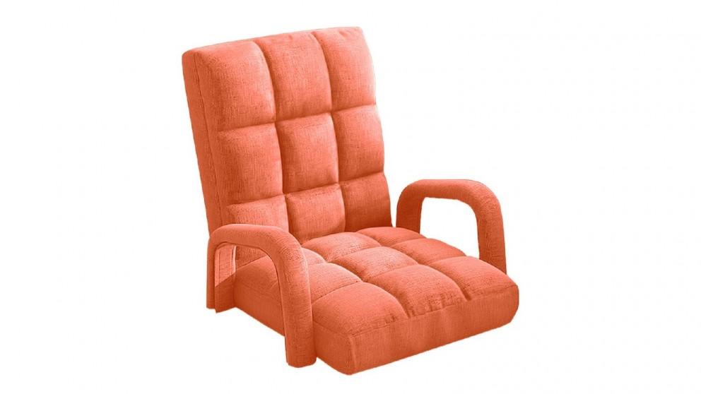 Soga Floor Recliner Lazy Chair with Armrest - Orange