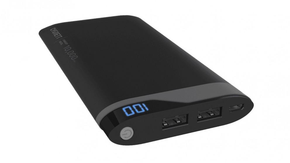 Cygnett ChargeUp Digital 10000 Power Bank - Black and Grey