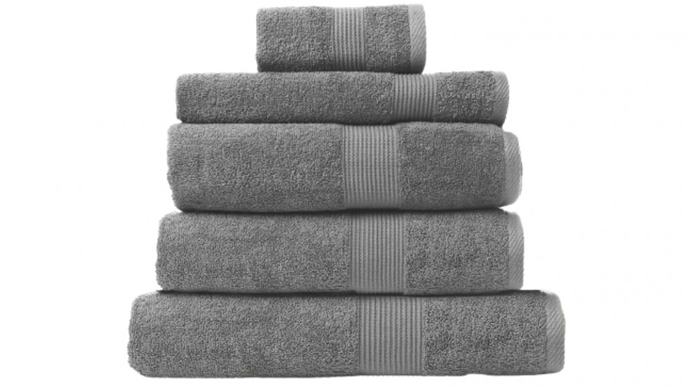 Royal Comfort Cotton Bamboo 5 Piece Towels - Charcoal