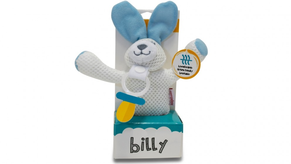 BibiLand BibiPals Billy Blue Bunny Breathable Teether Toy