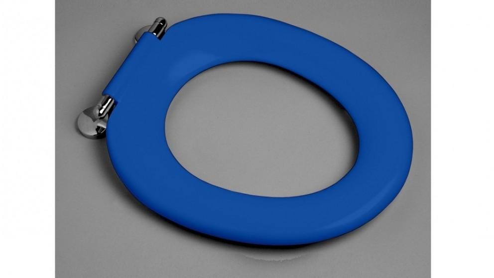 Caroma Pedigree II Single Flap Care Toilet Seat - Sorrento Blue