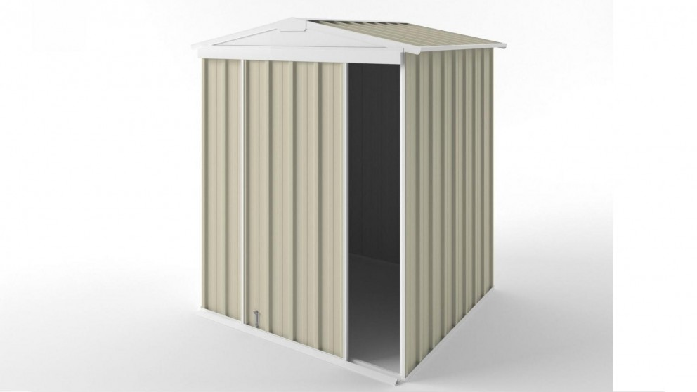 EasyShed S1515 Gable Slider Roof Garden Shed - Smooth Cream