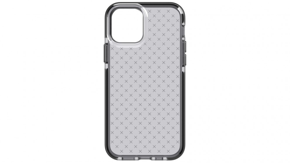 Tech21 Evo Check Case for iPhone 12/12 Pro - Smokey Black