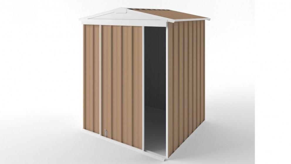 EasyShed S1515 Gable Slider Roof Garden Shed - Pale Terracotta