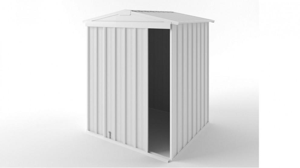EasyShed S1515 Gable Slider Roof Garden Shed - Off White