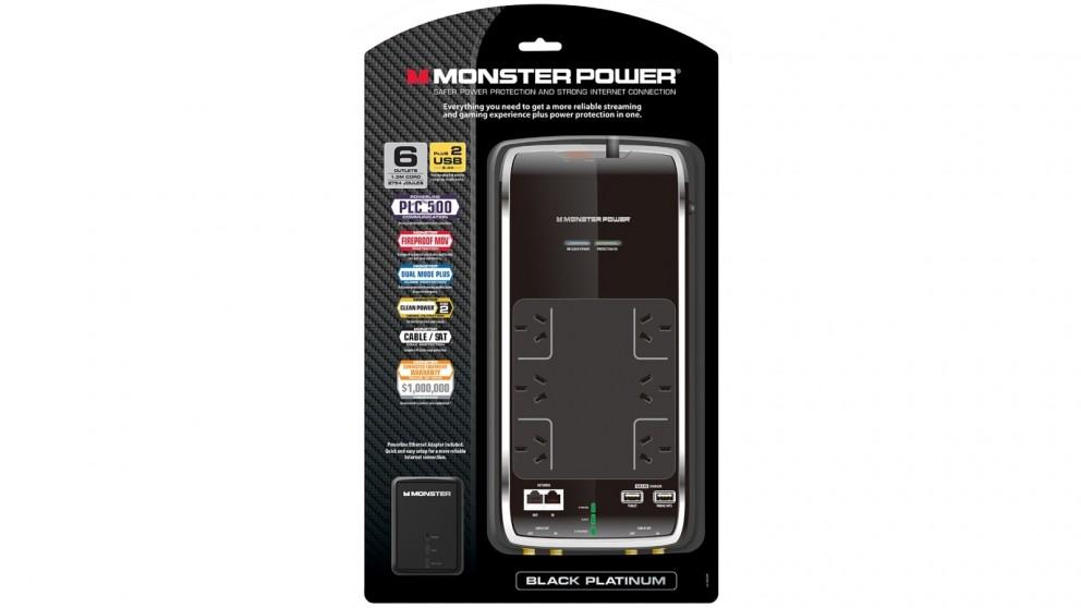 Monster Black Platinum AV 600 Surge Protector