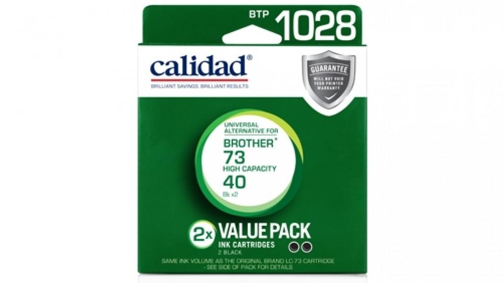 Calidad LC-73 Ink Cartridge - Black Twin Pack