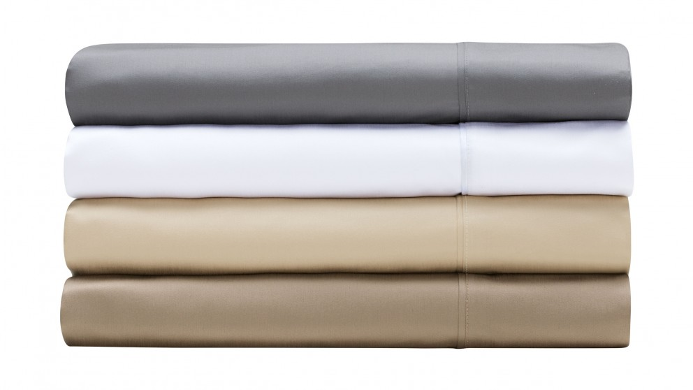 L'Avenue 1000TC White Sheet Set - King Single
