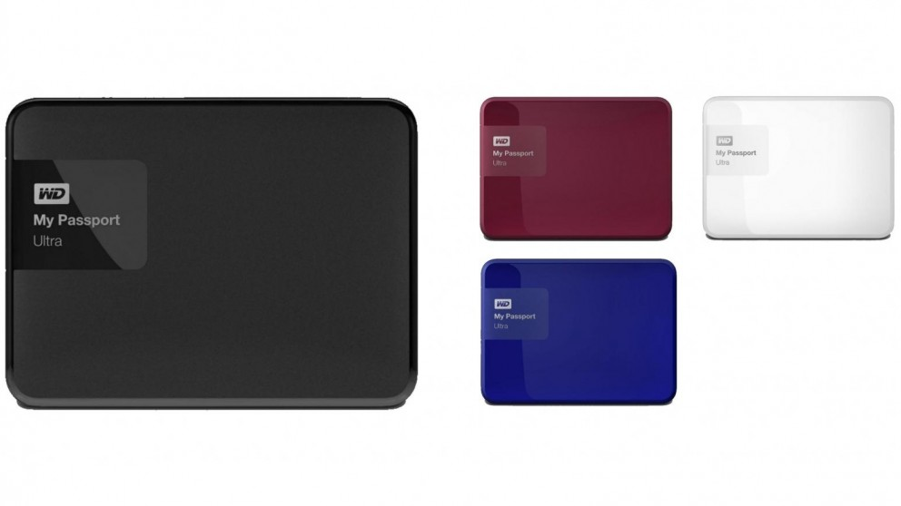 buy wd my passport ultra 1tb classic portable hard drive harvey norman au. Black Bedroom Furniture Sets. Home Design Ideas