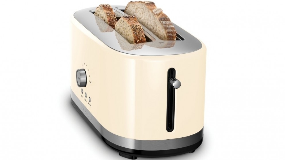 KitchenAid 4 Slice Long Slot Toaster - Almond Cream