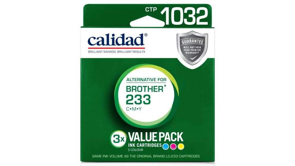 Calidad Brother LC-233 3-Pack Ink Cartridge