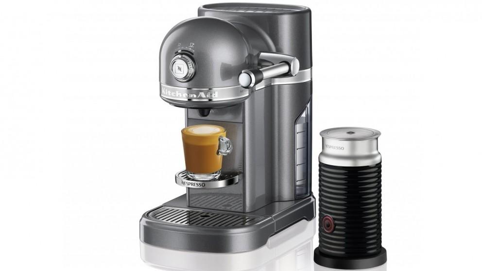 KitchenAid Nespresso Coffee Machine - Medallion Silver