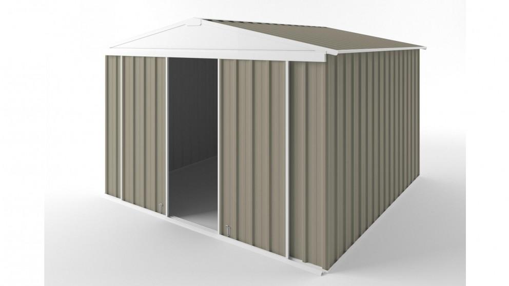 EasyShed D3030 Gable Slider Roof Garden Shed - Stone