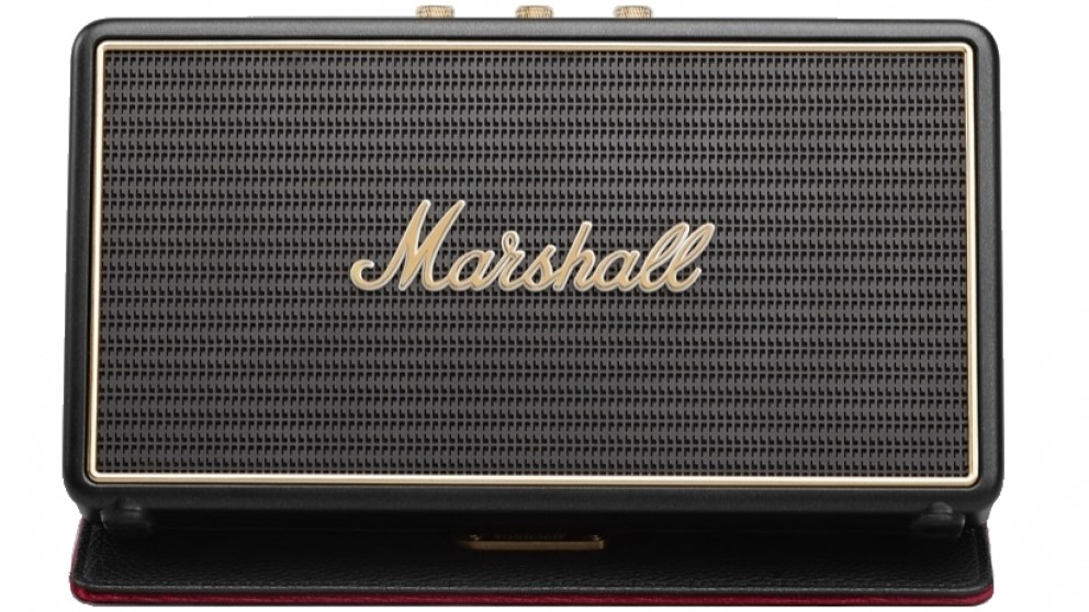 Marshall Stockwell Portable Bluetooth Speaker with Flip Cover - Black