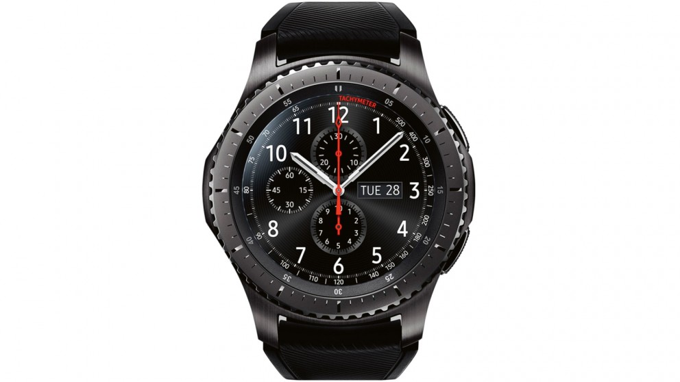Samsung gear s3 frontier smart watch black harvey norman for Watches gear