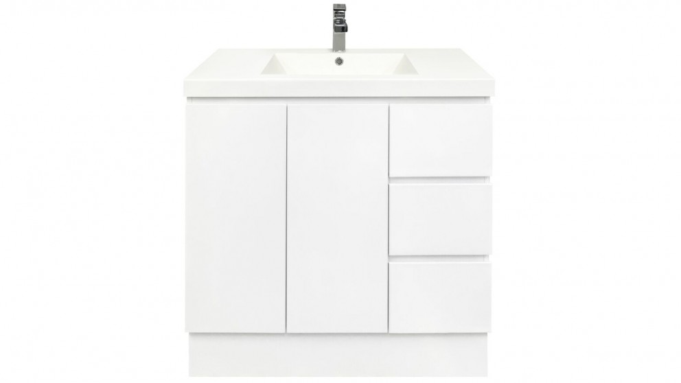 Forme Fifth Avenue 900mm Right Side Drawer Free Standing Vanity - Polymarble