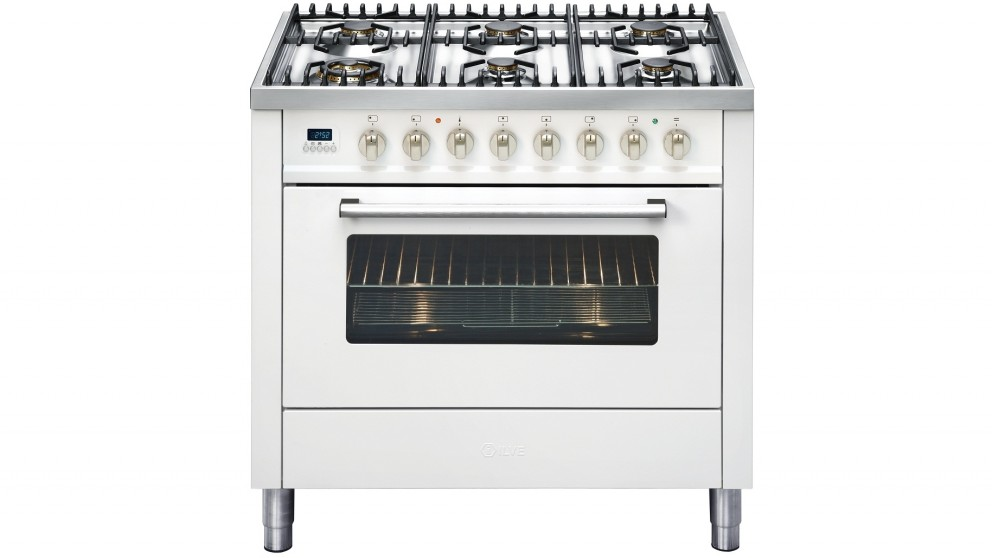 ILVE 900mm Freestanding Gas Cooker - Bright White