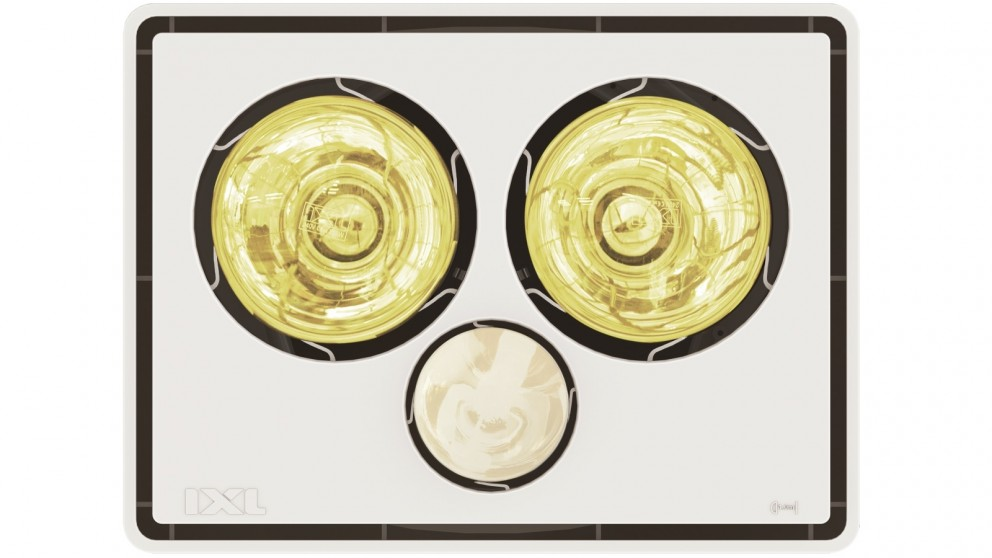 IXL Tastic Vivid 3-in-1 Bathroom Heater, Light & Fan