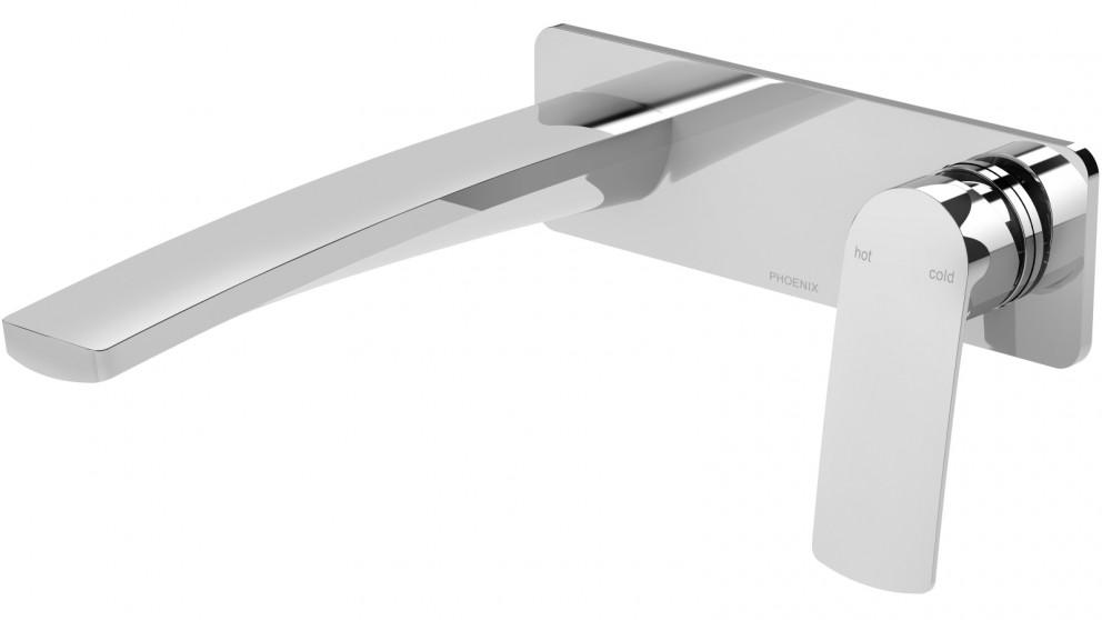 Phoenix Mekko 200mm Wall Basin/Bath Mixer Set - Chrome