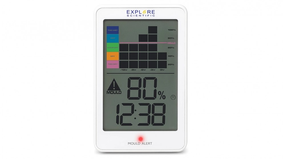 Explore Scientific Thermo/Hygrometer with Mould Alert (Twin Pack)